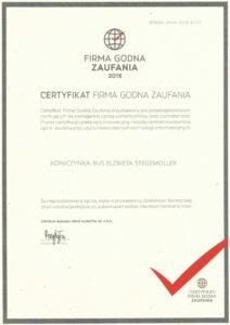 Koniczynka Bus - Firma Godna Zaufania